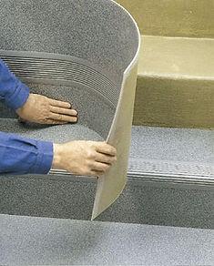 Pose sols souples sur marches d'escaliers