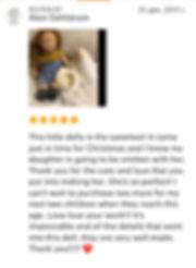 Отзыв о вальдорфской кукле Фелиции