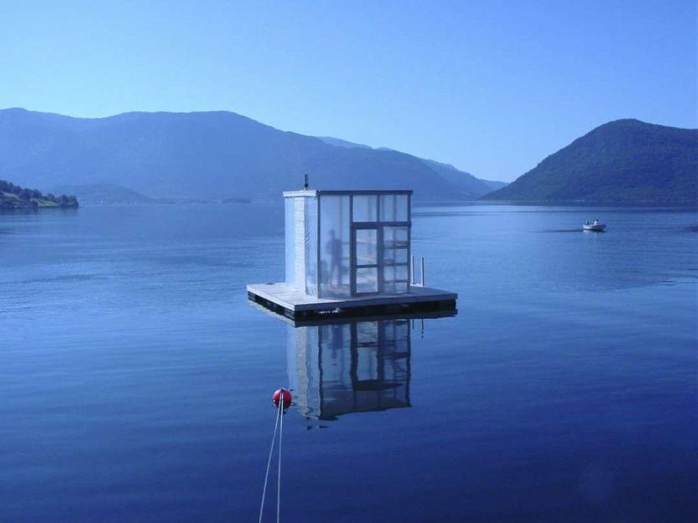 FOTO: Norská plovoucí sauna