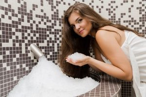Ochlazování v sauně pomocí ledové studny