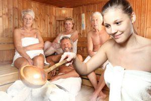 Saunový ceremoniál ve finské sauně
