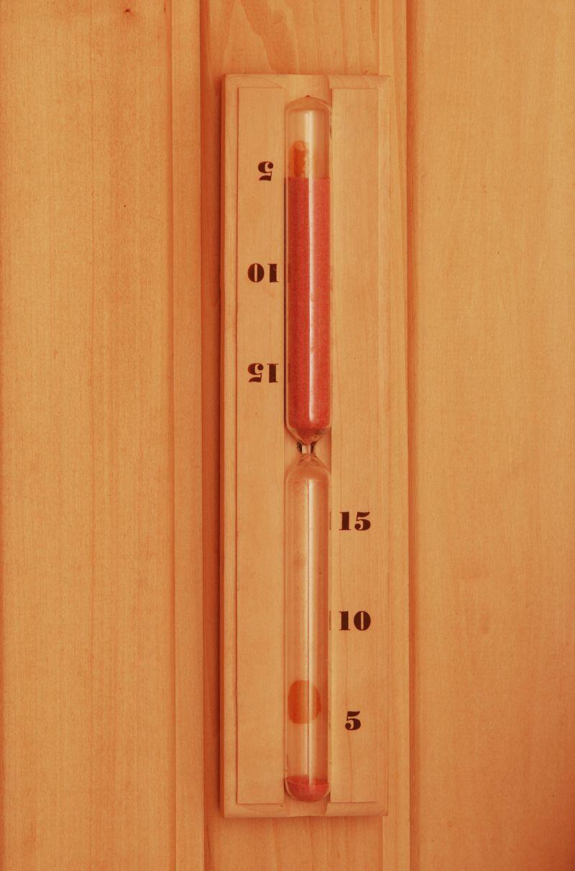 FOTO: Přesýpací hodiny do sauny