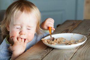 Hladové dítě po saunování