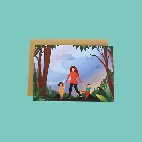 Day In The Forest (Single Card)