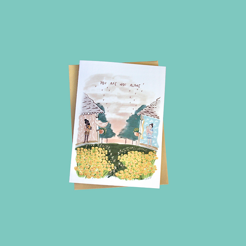 'You are not alone' (Single Card)