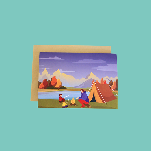 Day In The Mountains (Single Card)