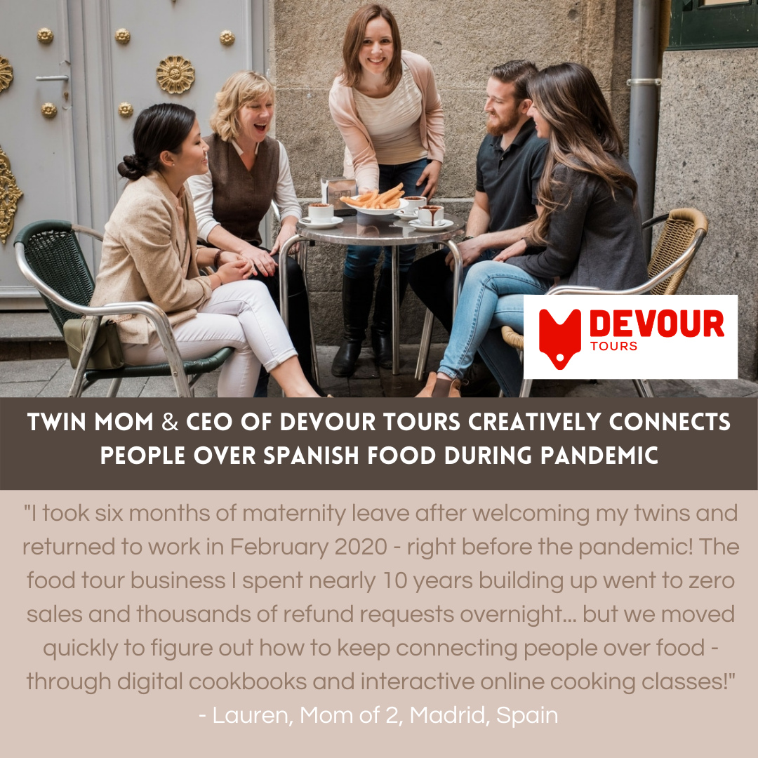 Twin Mom & CEO of Devour Tours creatively connects people over Spanish food during pandemic