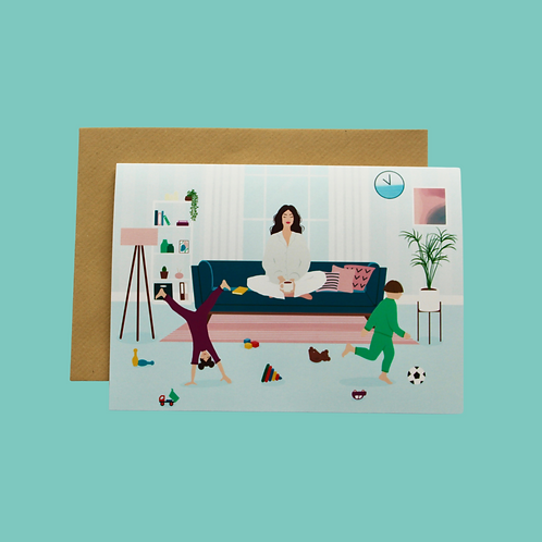 At Home with Mom - Keep Calm (Single Card)