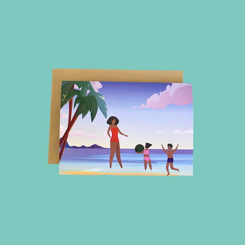 Day At The Beach (Single Card)