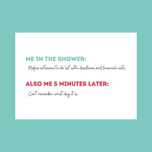 Mom Brain Funny Postcard