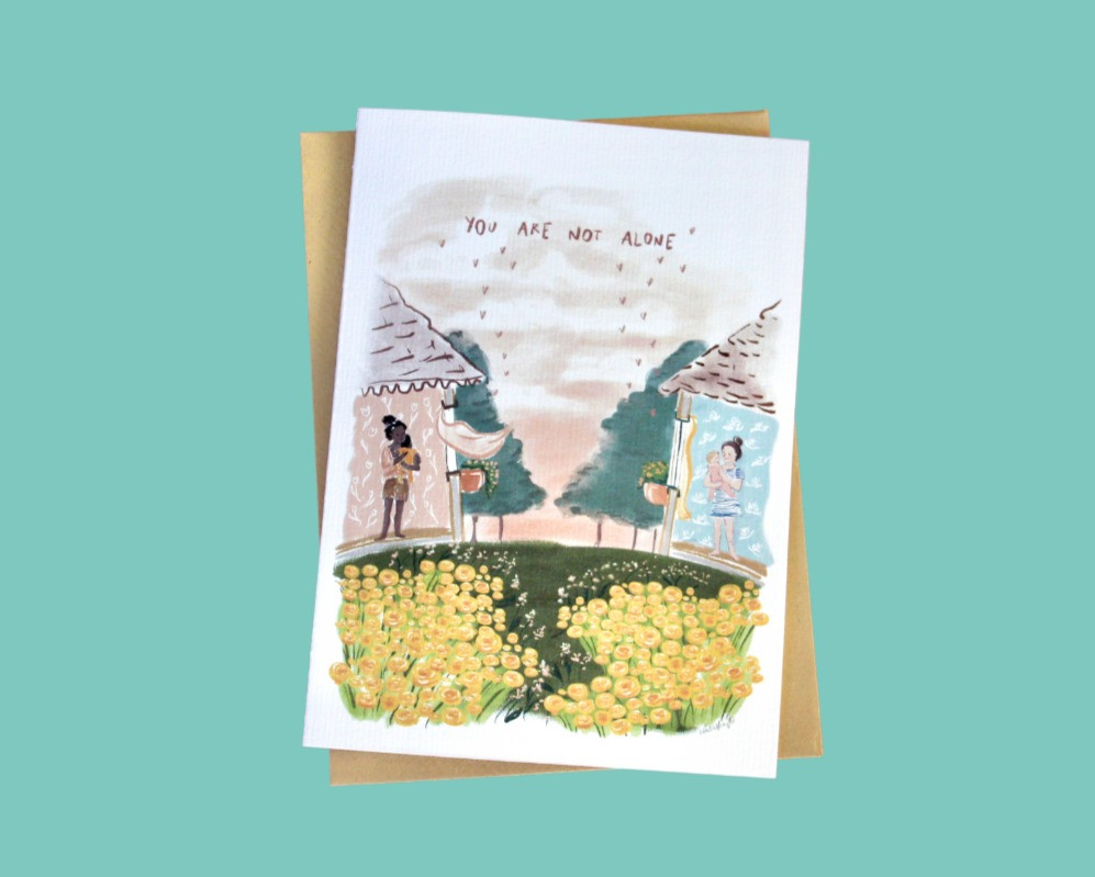 Mother's Day Card Heartily Art