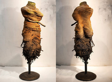 """Earth Mother Tuber, Rope Mixed Media, 2015, 61""""x17""""x17"""""""