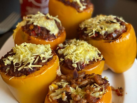 Stuffed Mexican Style Peppers with Nacho's 🌶️😍