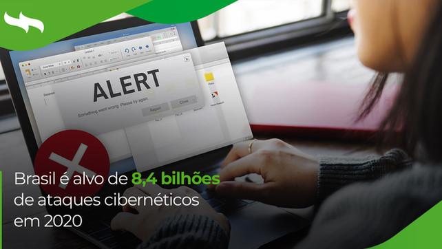Brasil é alvo de 8,4 bilhões de ataques cibernéticos em 2020