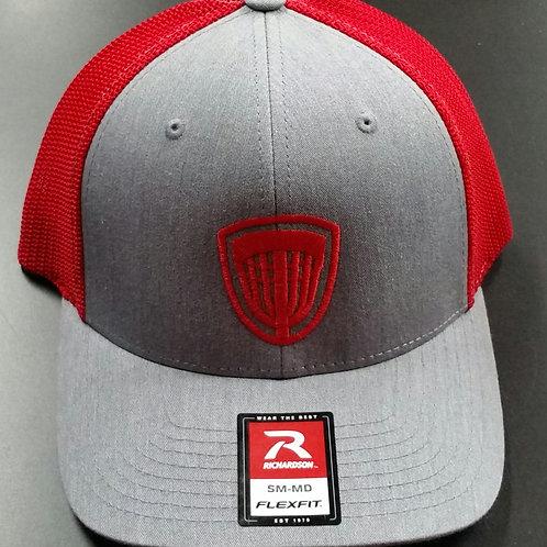 Grey/red Flex Fit Riverside Hat