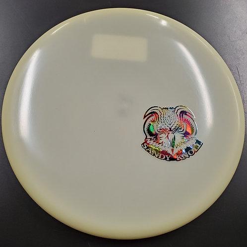 Glow Champion VRoc w/ a Skeet Scienski Sandy Knoll Owl mini stamp
