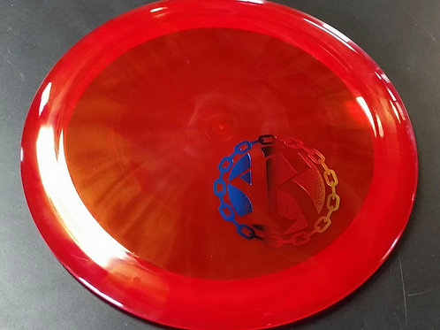 Westside Discs VIP Queen featuring a Riverside Disc Golf Chains stamp