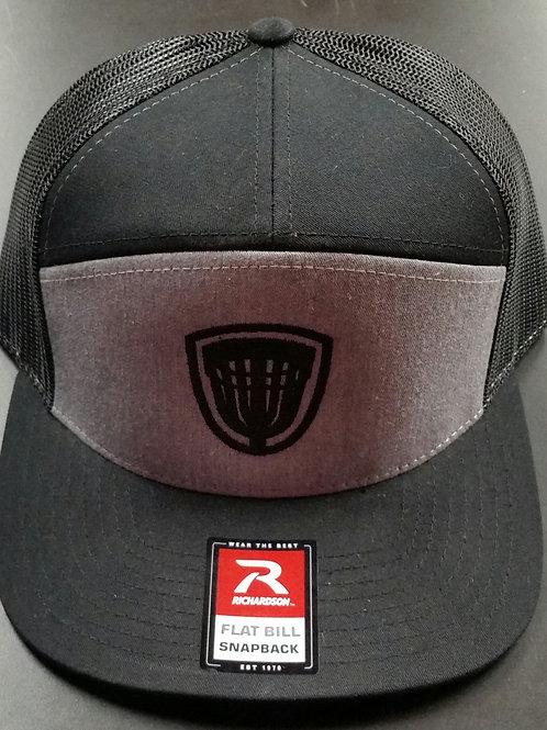 Black/grey Flat Bill Snapback Riverside Hat