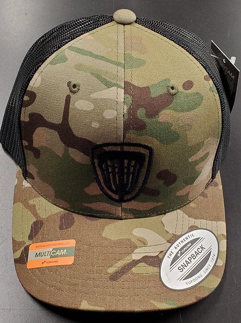 Snap Back Riverside Basket Hat in camo