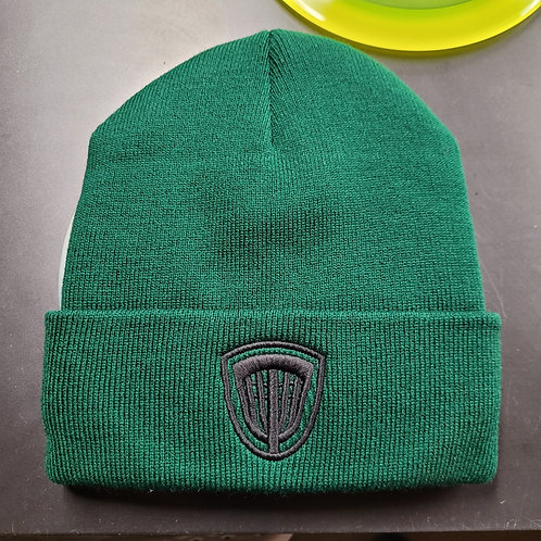 New Basket Emblem Forest Green Winter Beanie with Fleece Lining