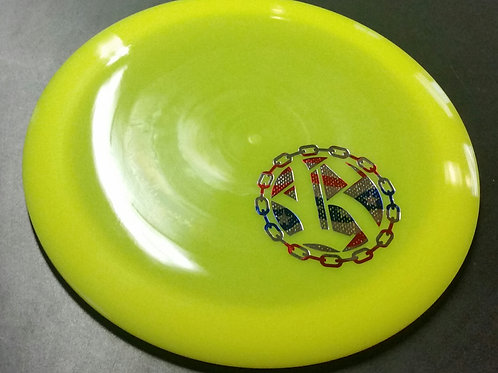 Westside Discs VIP World featuring a Riverside Disc Golf Chains stamp