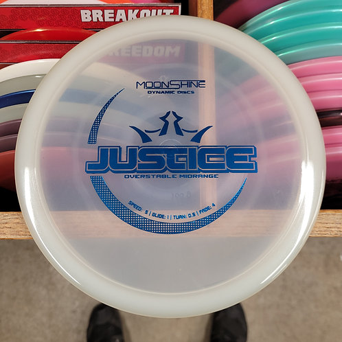 New Glow Moonshine Justice 168G Blue Hot Stamp