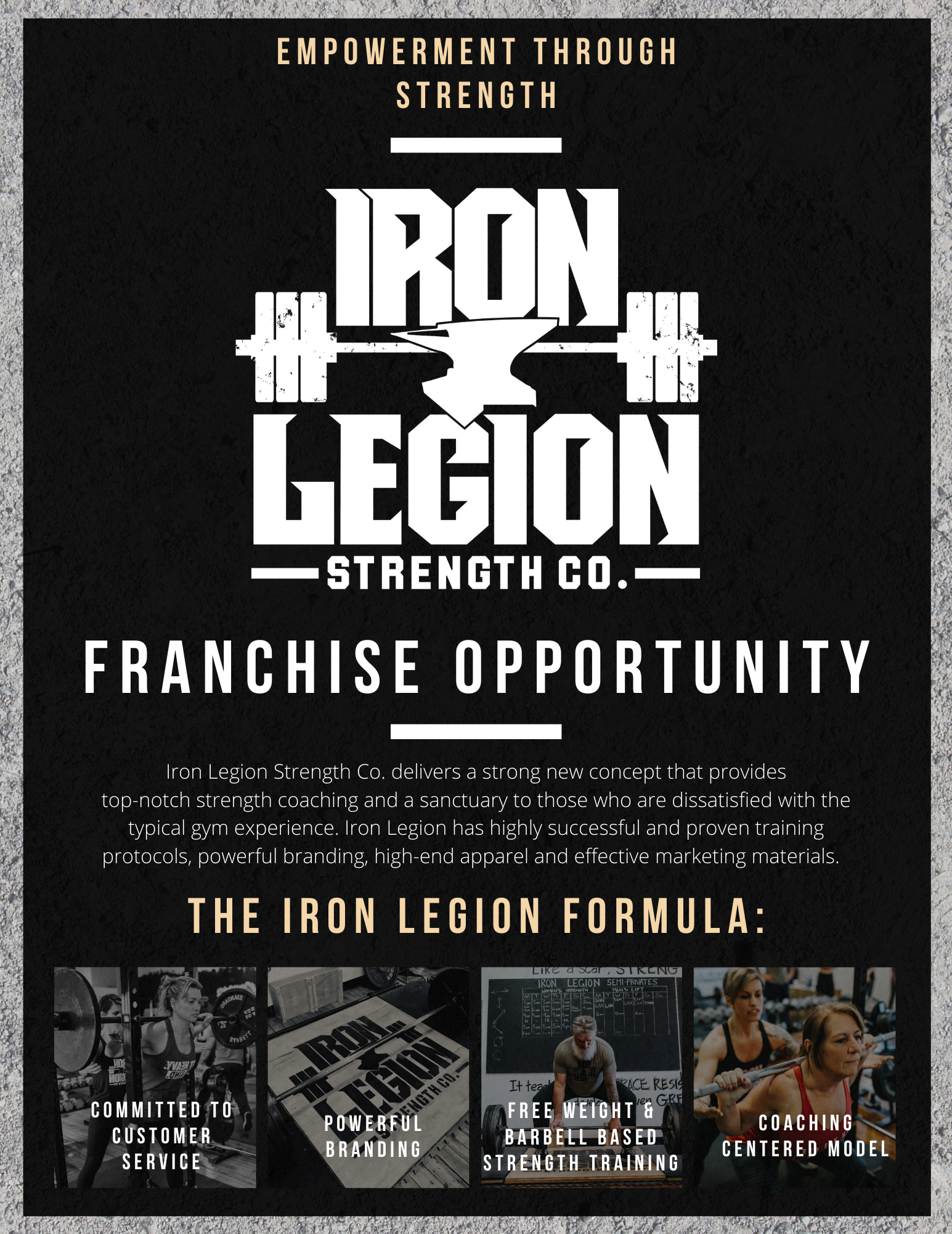 Iron Legion Franchise Flyer