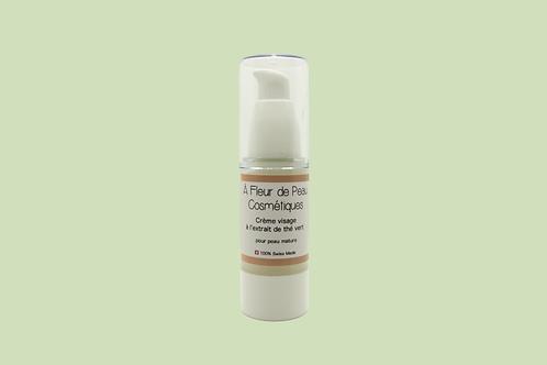Crème visage pour peau mature à l'extrait de thé vert