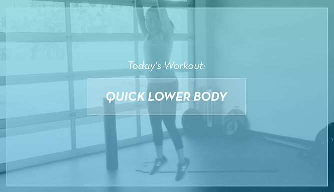 Quick At-Home Lower Body Workout
