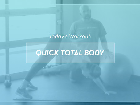 Quick At-Home Total Body Workout