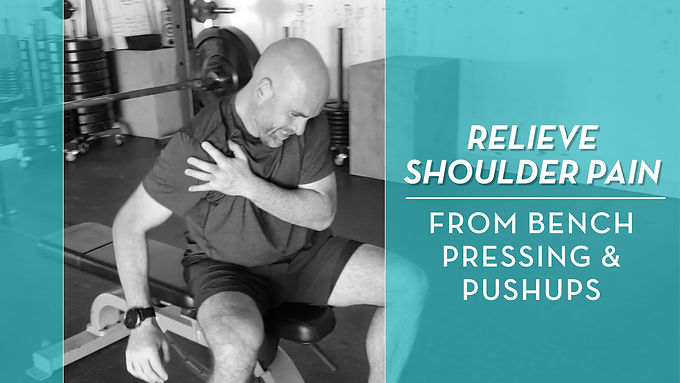 How To Deal With Shoulder Pain From Benching Or Pushups
