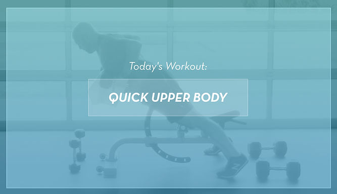 Quick At-Home Upper Body Workout