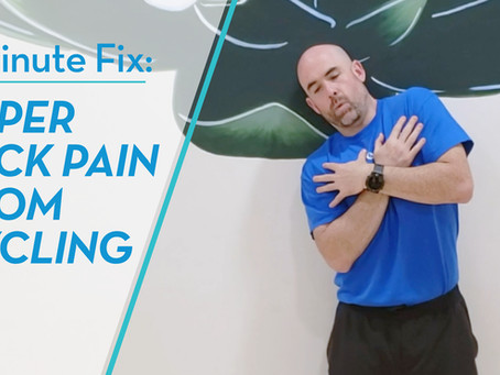 5 Minute Exercise For Cyclists To Relieve Upper Back Pain