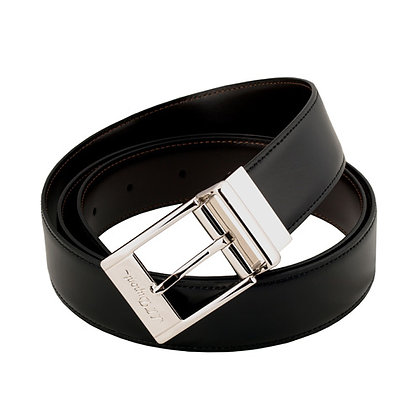 S.T. DUPONT Reversible Belt with Silver Buckle