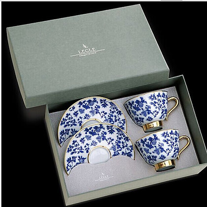 LEGLE : FRANCE TEA/COFFEE GIFT SET (SET OF 2-003)
