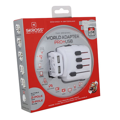 SKROSS : World Adapter Pro+ USB