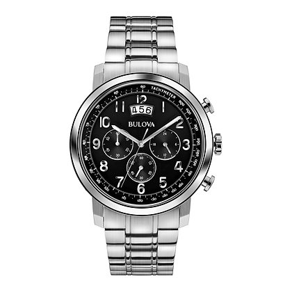 Bulova Global Gent Stainess Steel Watch