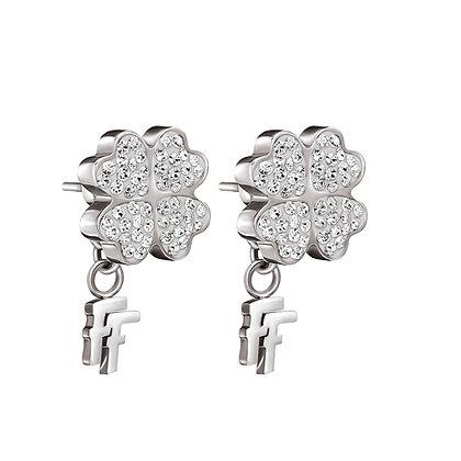Folli Follie Heart4Heart Crystal Earrings