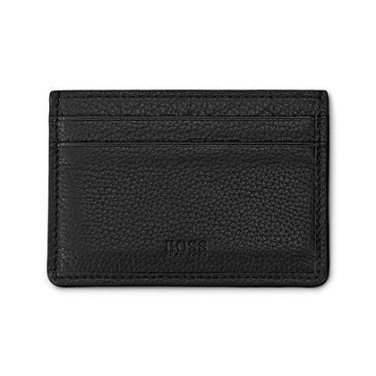 Hugo Boss Men Card Holder in Grained Leather