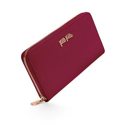Folli Follie Saffiano Wallet-Burgundy Red