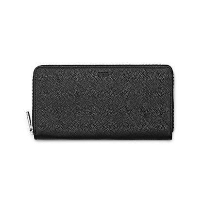 Hugo BOSS Men Ziparound Travel Leather Wallet