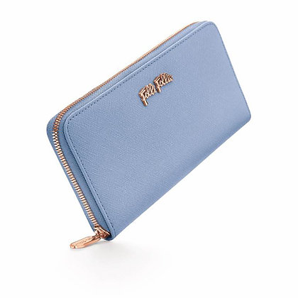 Folli Follie Saffiano Wallet-Sky Blue