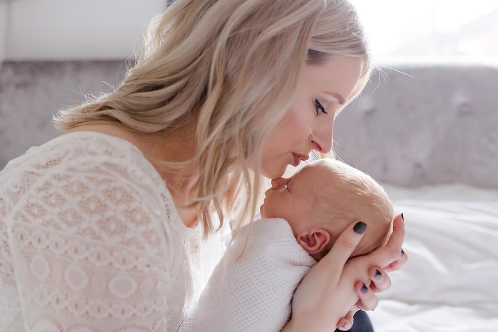 Southampton Newborn Photography- Mummy and baby