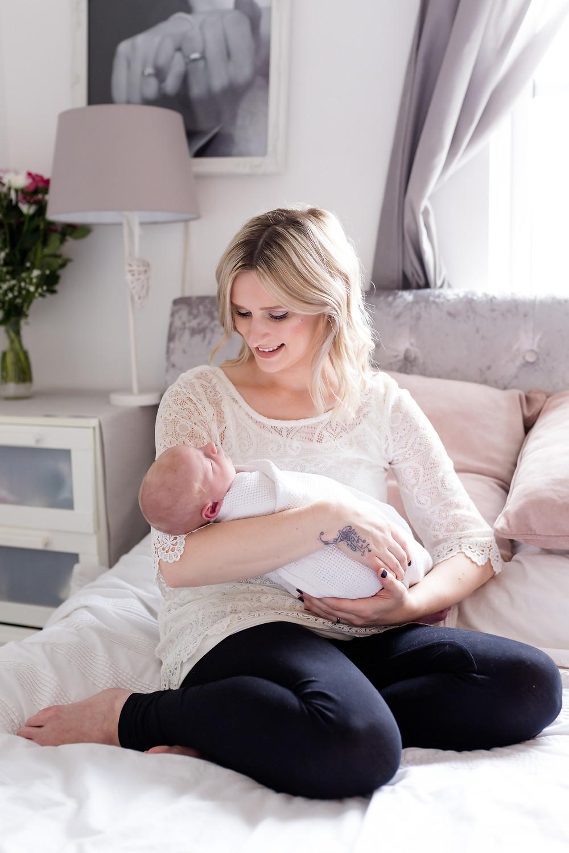 Southampton Newborn Photography- Beautiful Mummy and her baby boy