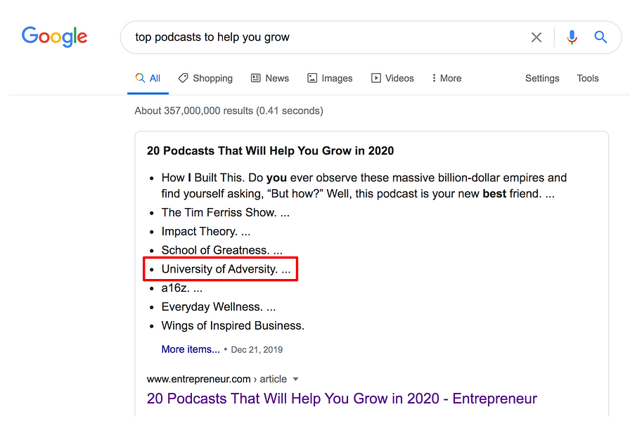 Mindful Media PR - Google top podcasts