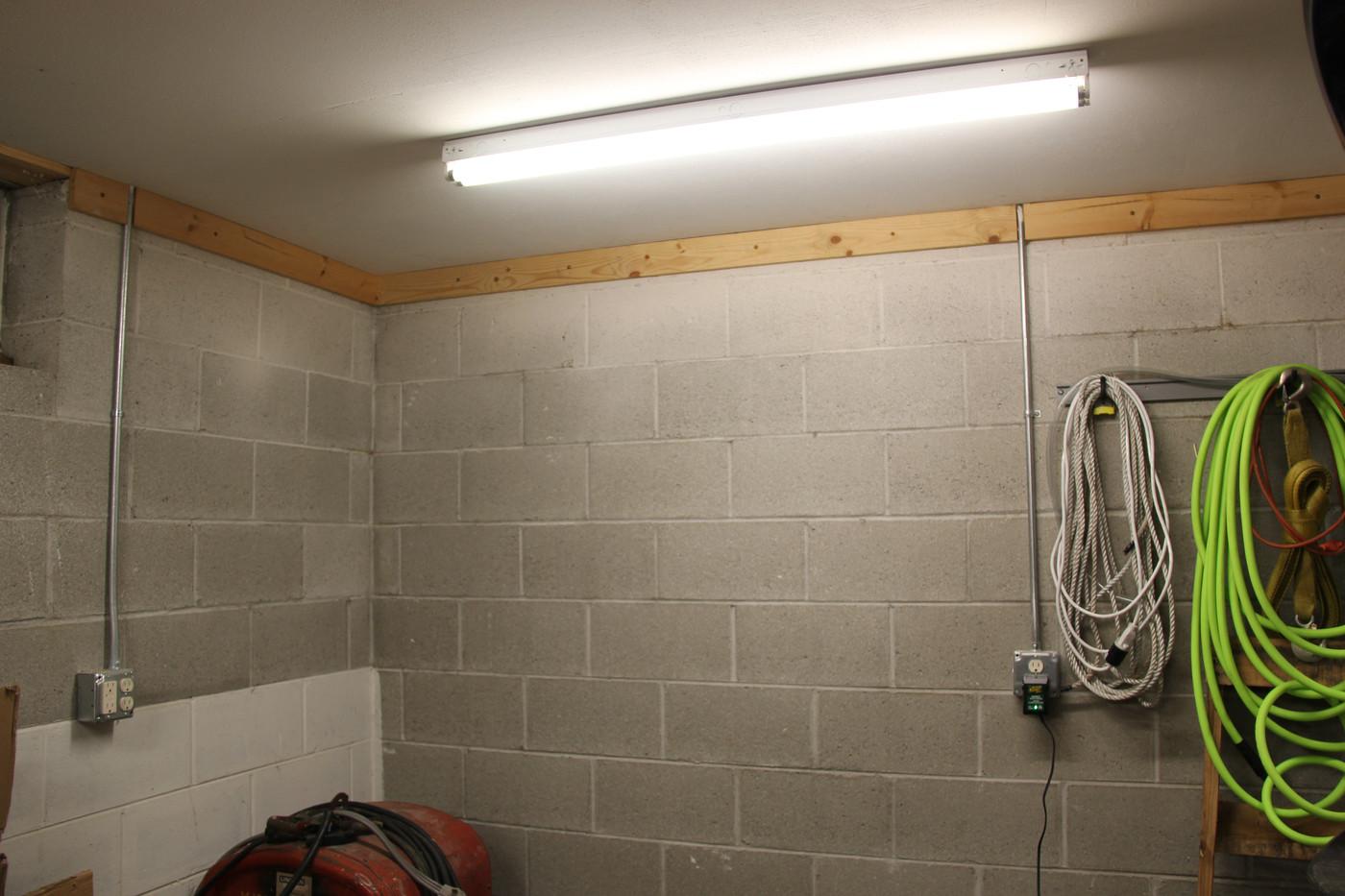Workshop Lights & Outlets
