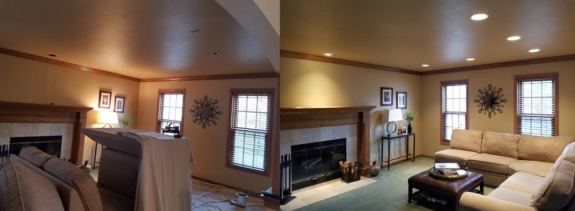 Fireplace Room Can Lighting