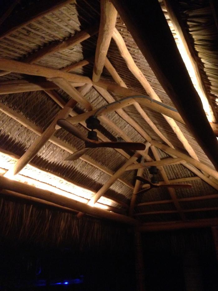 Tiki Hut Fans and Rope Lighting