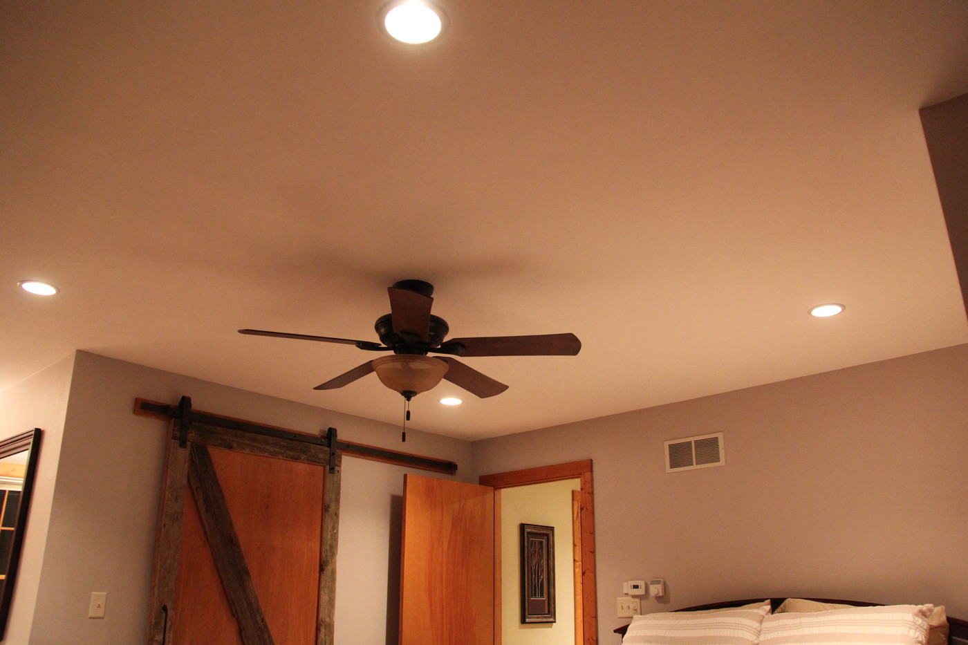 Fan Replace, Install New Recessed Lights In Bedroom