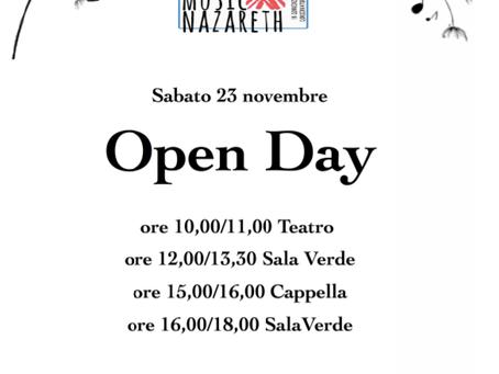 Programma musicale |  23 novembre | open day 2019 | nazareth roma